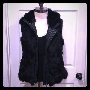BCBG MaxAzria reversible fur vest.